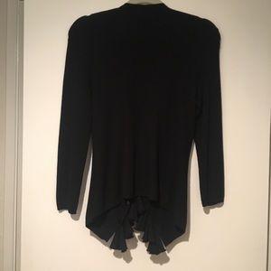 Cashmere/silk cardigan sweater small Navy